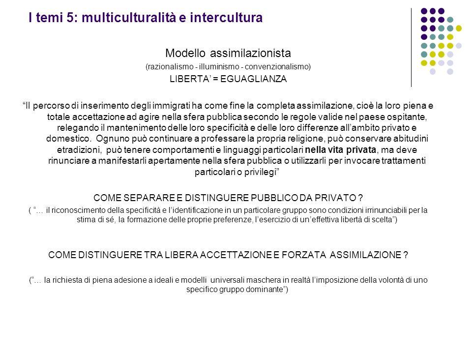 I temi 5: multiculturalità e intercultura