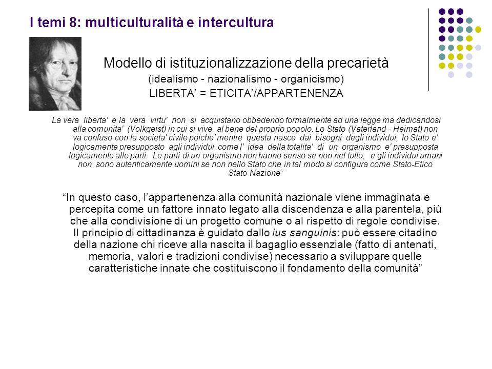 I temi 8: multiculturalità e intercultura