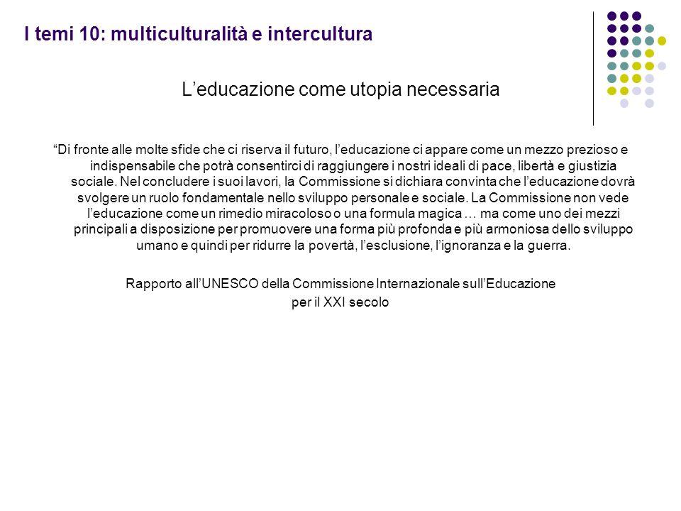I temi 10: multiculturalità e intercultura