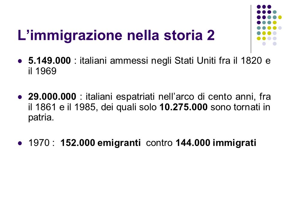 L'immigrazione nella storia 2