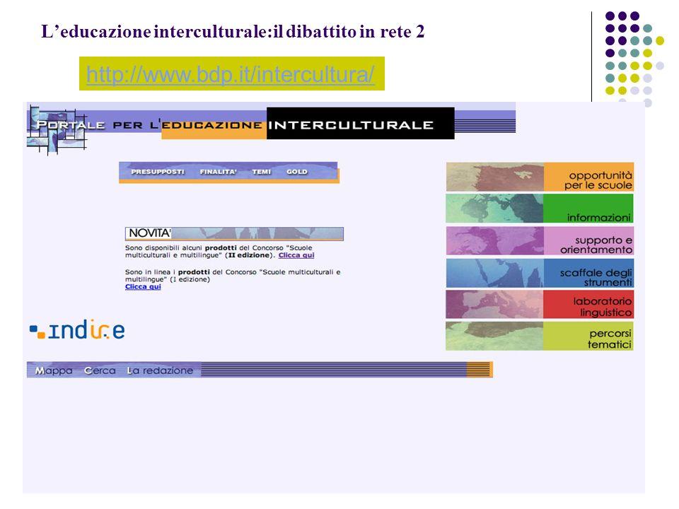 L'educazione interculturale:il dibattito in rete 2