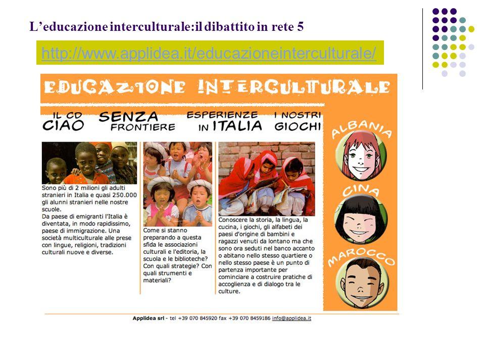 L'educazione interculturale:il dibattito in rete 5