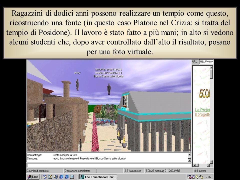 Ragazzini di dodici anni possono realizzare un tempio come questo, ricostruendo una fonte (in questo caso Platone nel Crizia: si tratta del tempio di Posidone).