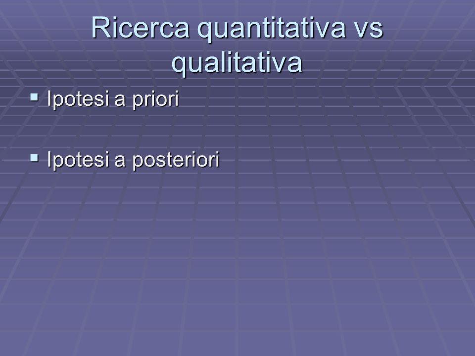 Ricerca quantitativa vs qualitativa