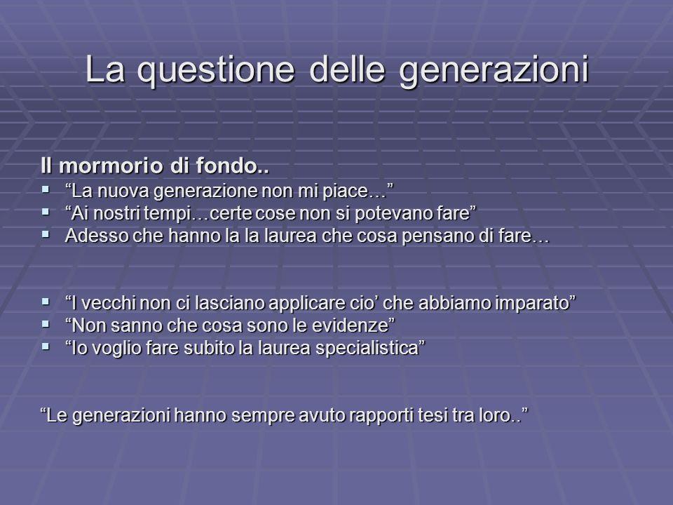 La questione delle generazioni