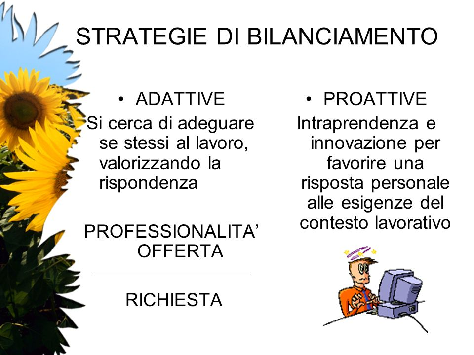 STRATEGIE DI BILANCIAMENTO