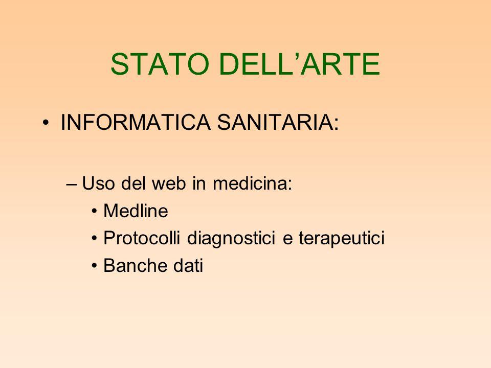 STATO DELL'ARTE INFORMATICA SANITARIA: Uso del web in medicina: