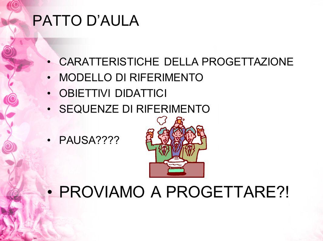 PROVIAMO A PROGETTARE ! PATTO D'AULA