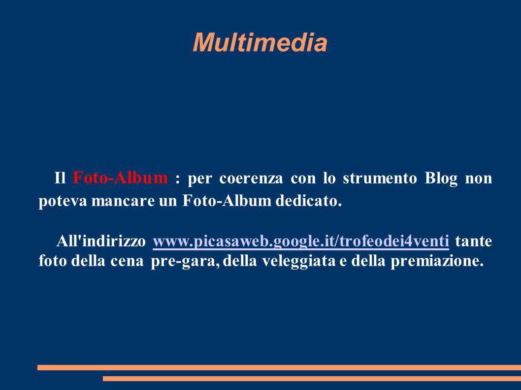 Multimedia Il Foto-Album : per coerenza con lo strumento Blog non poteva mancare un Foto-Album dedicato.