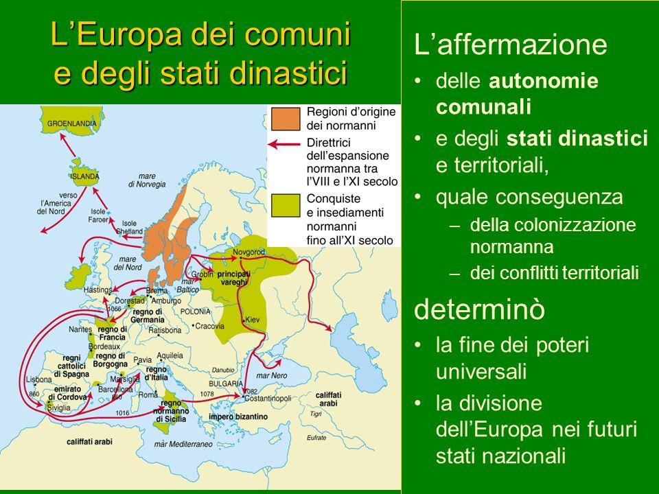 L'Europa dei comuni e degli stati dinastici