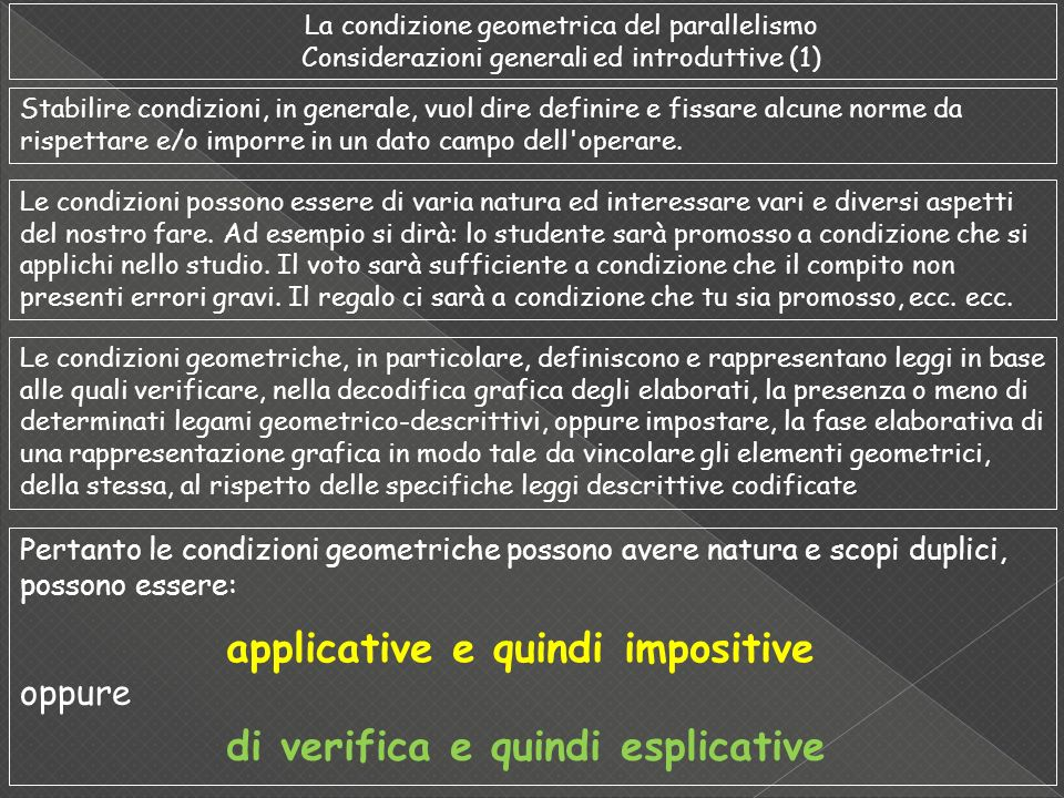 applicative e quindi impositive