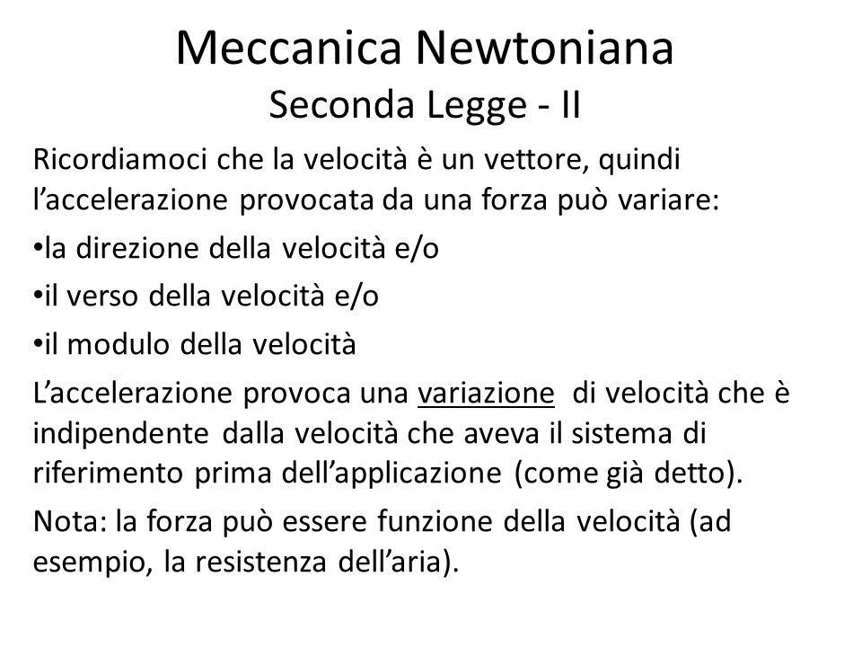 Meccanica Newtoniana Seconda Legge - II