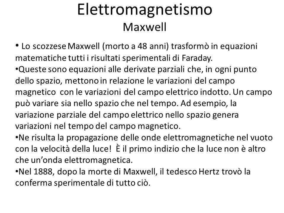 Elettromagnetismo Maxwell