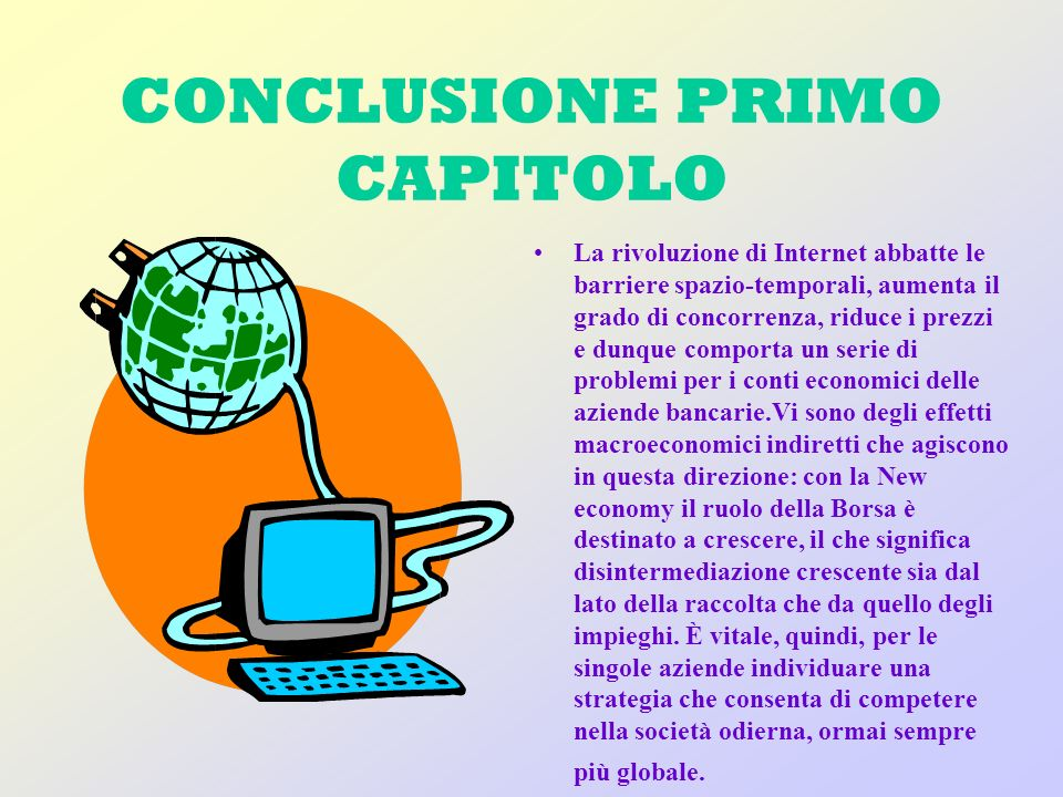 CONCLUSIONE PRIMO CAPITOLO
