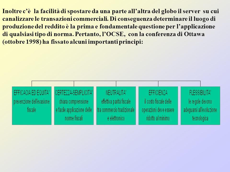 Inoltre c'è la facilità di spostare da una parte all'altra del globo il server su cui canalizzare le transazioni commerciali.