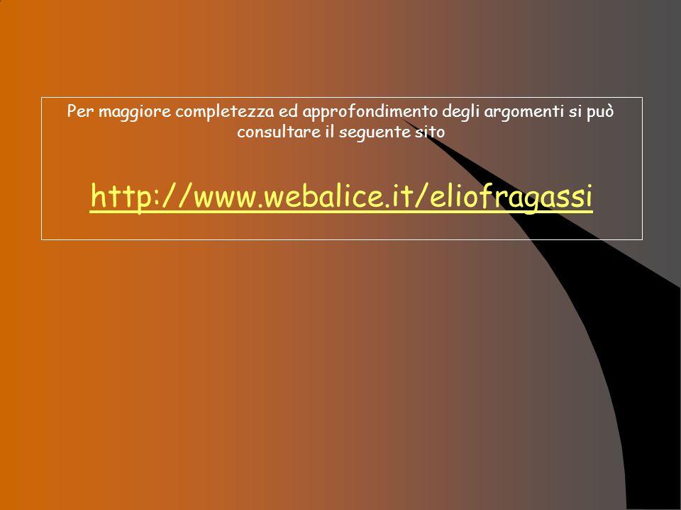 Per maggiore completezza ed approfondimento degli argomenti si può consultare il seguente sito