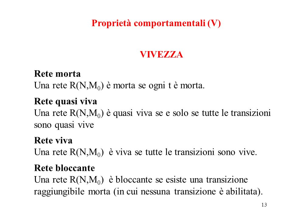 Proprietà comportamentali (V)