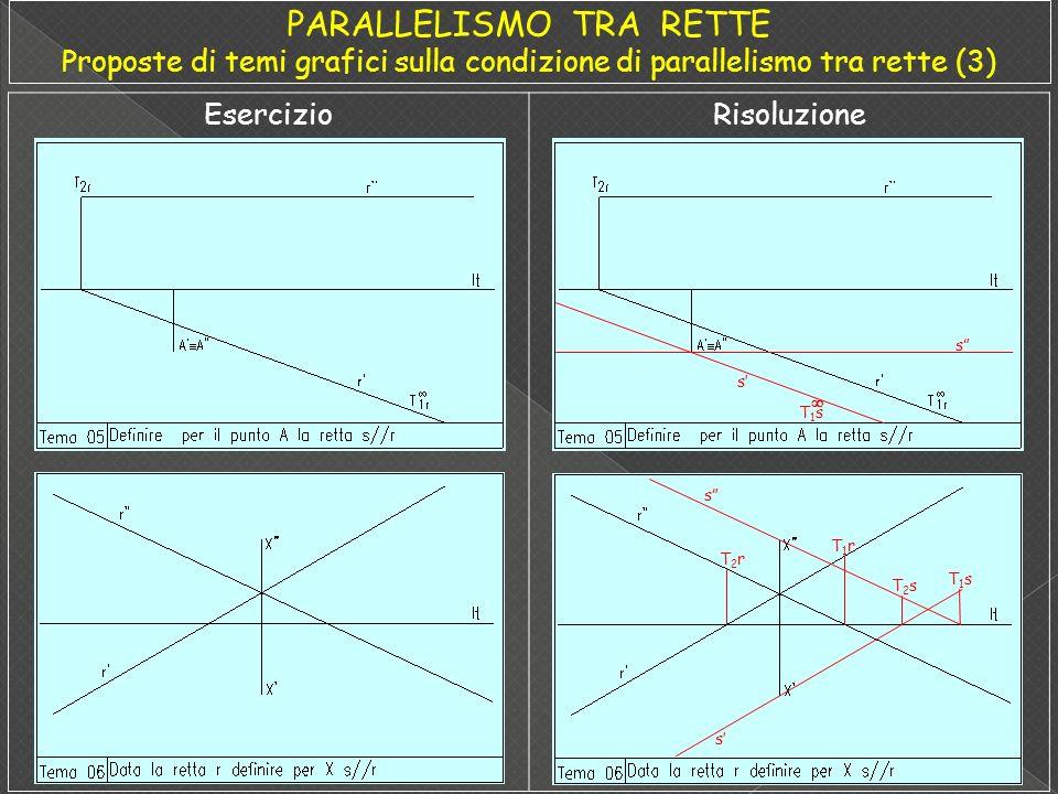 PARALLELISMO TRA RETTE Proposte di temi grafici sulla condizione di parallelismo tra rette (3)