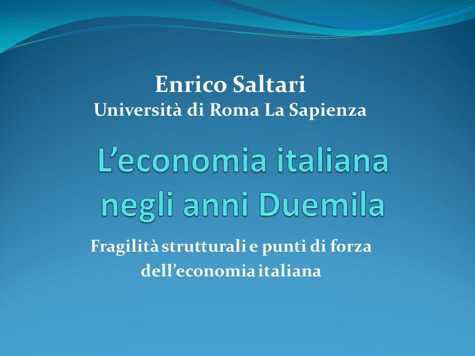 L'economia italiana negli anni Duemila