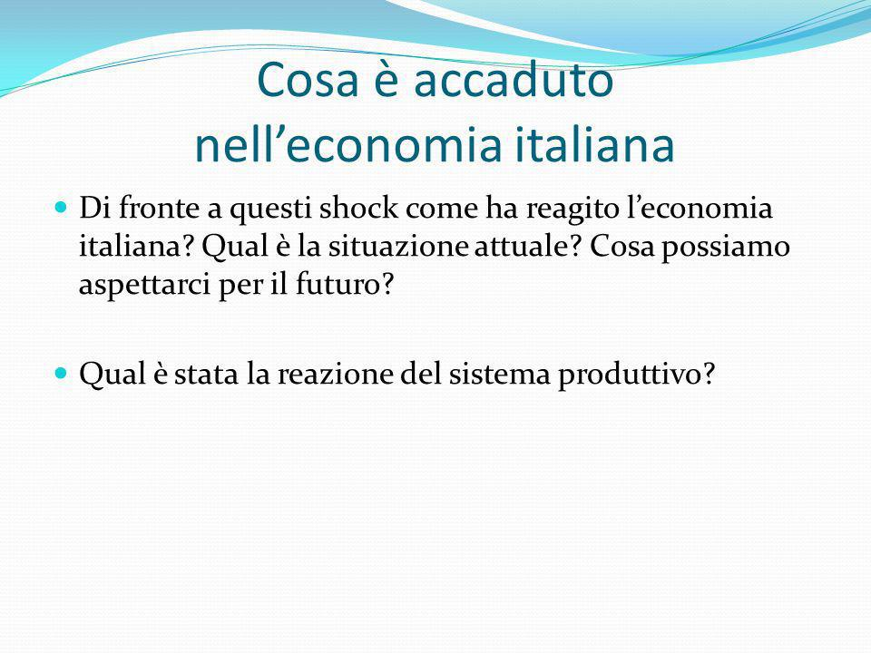Cosa è accaduto nell'economia italiana