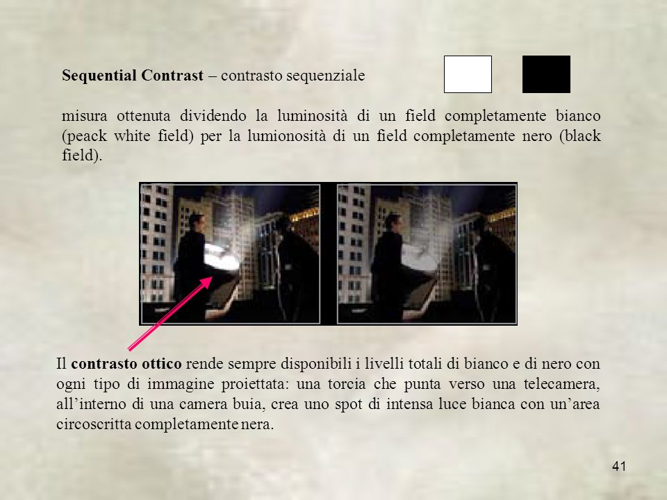 Sequential Contrast – contrasto sequenziale