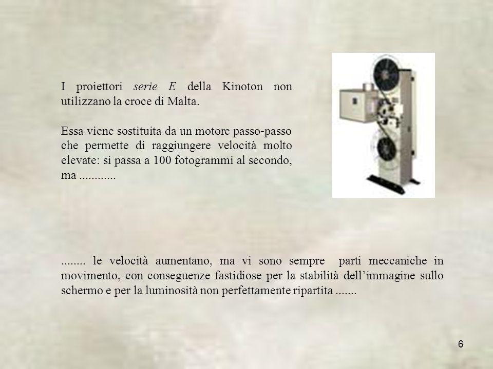 I proiettori serie E della Kinoton non utilizzano la croce di Malta.