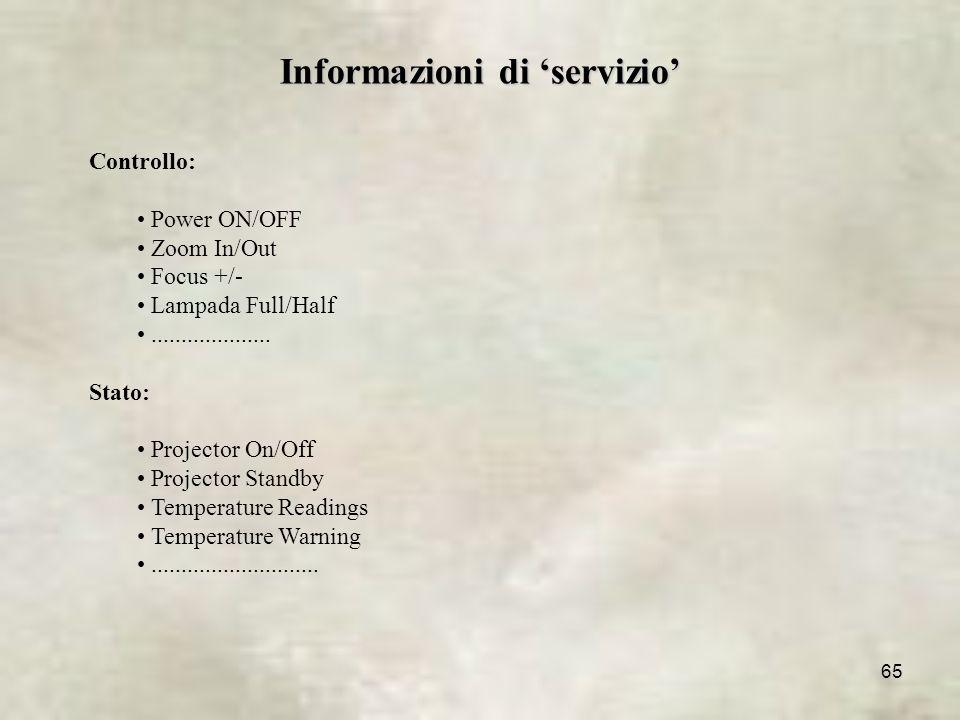 Informazioni di 'servizio'