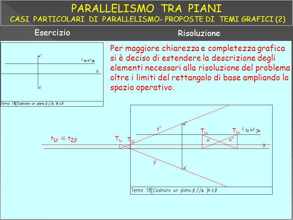 PARALLELISMO TRA PIANI CASI PARTICOLARI DI PARALLELISMO- PROPOSTE DI TEMI GRAFICI (2)