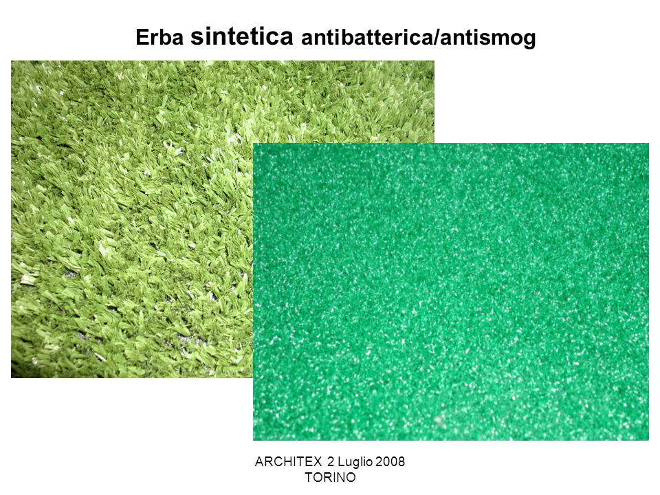 Erba sintetica antibatterica/antismog