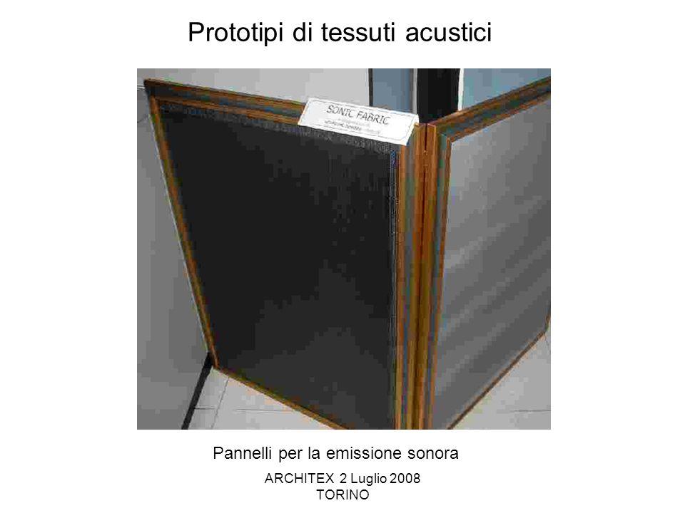 Prototipi di tessuti acustici