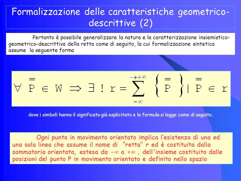 Formalizzazione delle caratteristiche geometrico-descrittive (2)