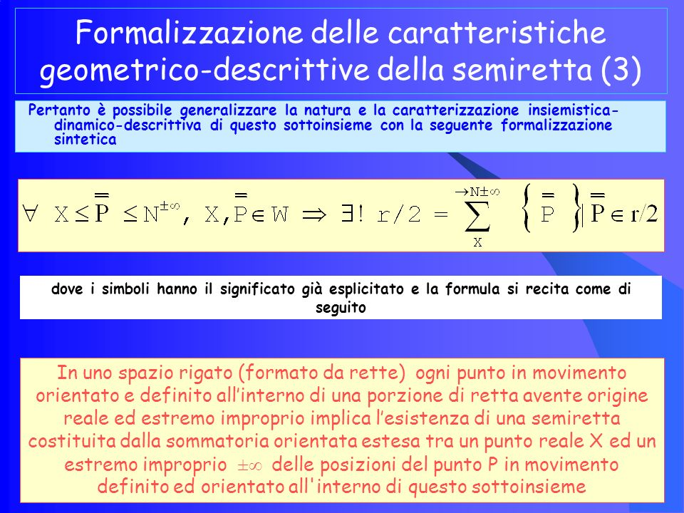 Formalizzazione delle caratteristiche geometrico-descrittive della semiretta (3)