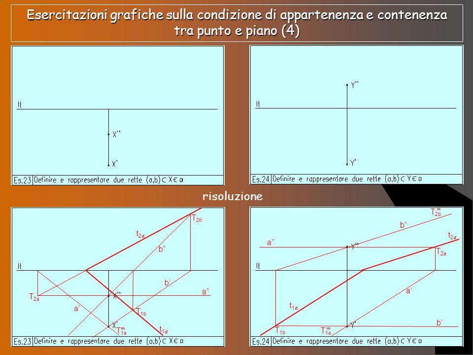 Esercitazioni grafiche sulla condizione di appartenenza e contenenza tra punto e piano (4)