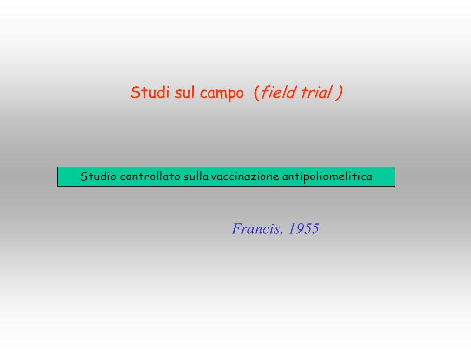 Studi sul campo (field trial )