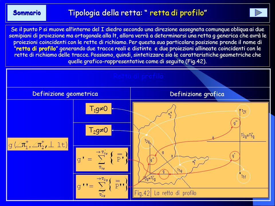 Tipologia della retta: retta di profilo