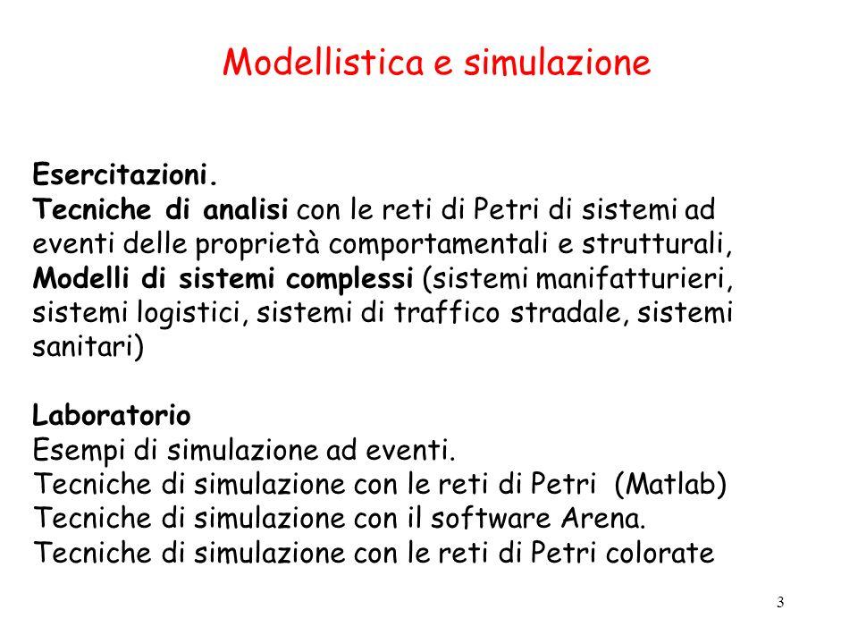 Modellistica e simulazione