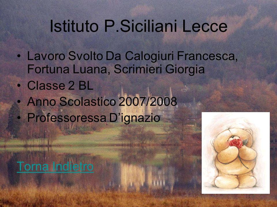 Istituto P.Siciliani Lecce