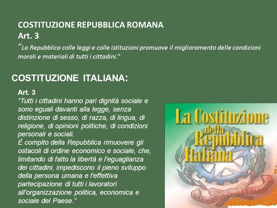 COSTITUZIONE REPUBBLICA ROMANA Art