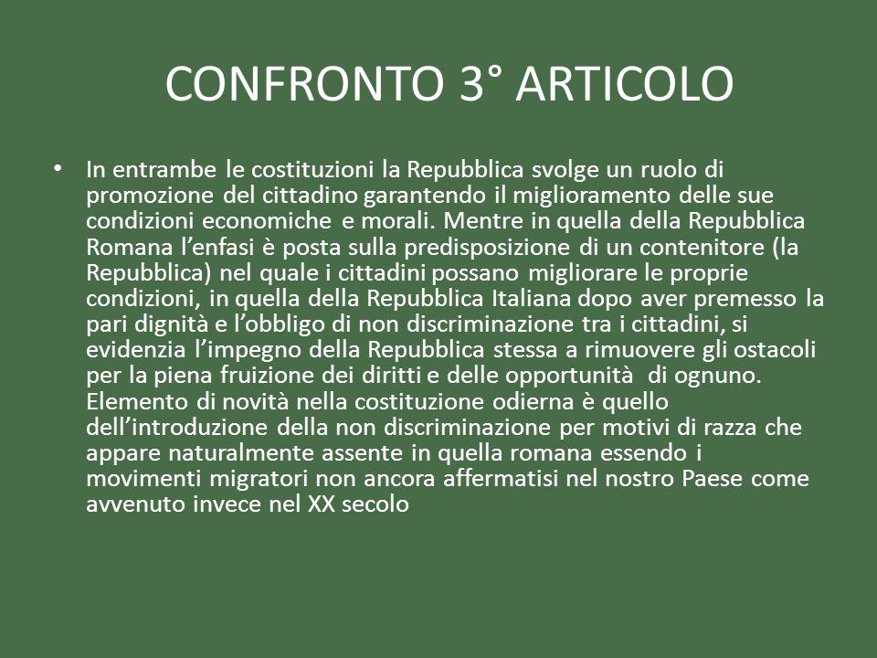 CONFRONTO 3° ARTICOLO