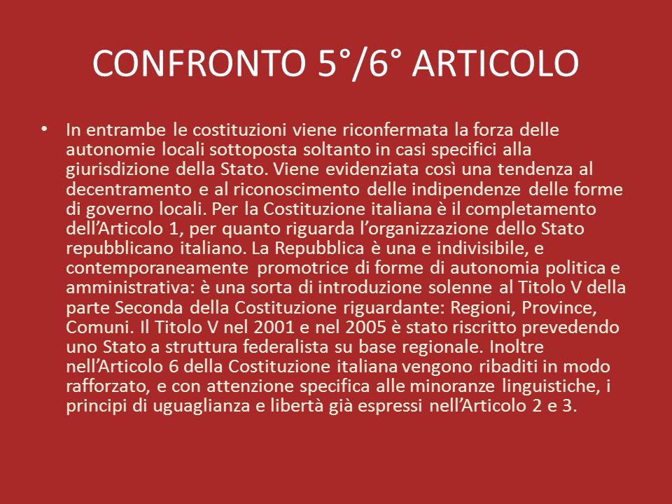 CONFRONTO 5°/6° ARTICOLO