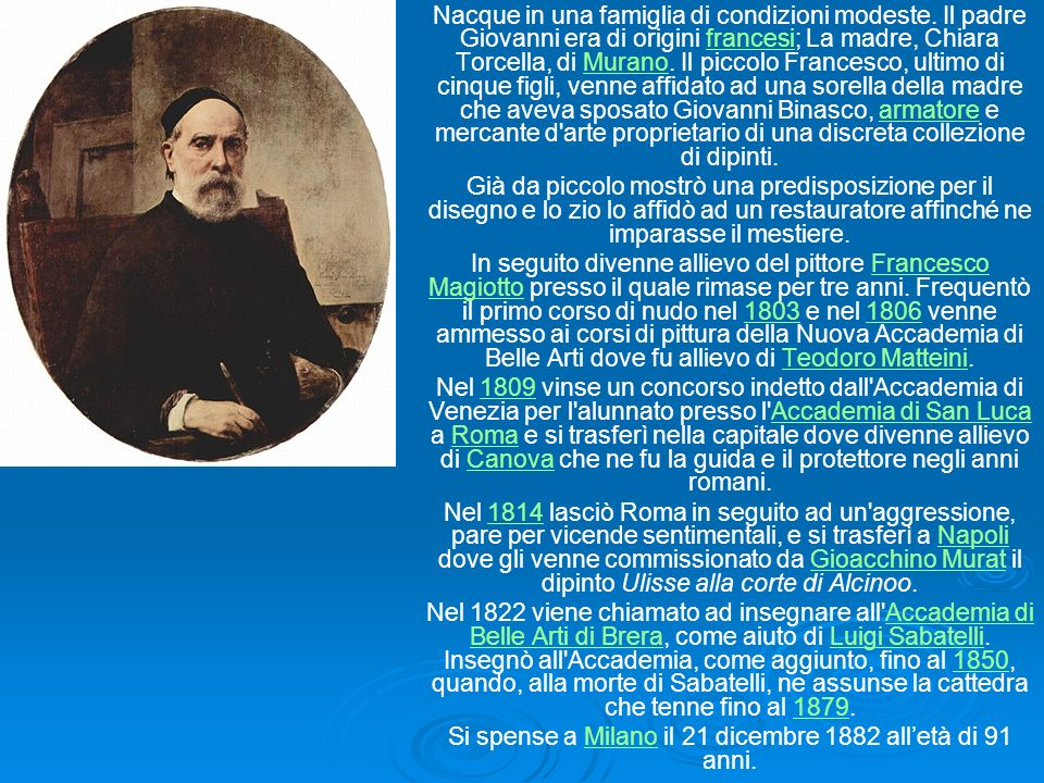Si spense a Milano il 21 dicembre 1882 all'età di 91 anni.