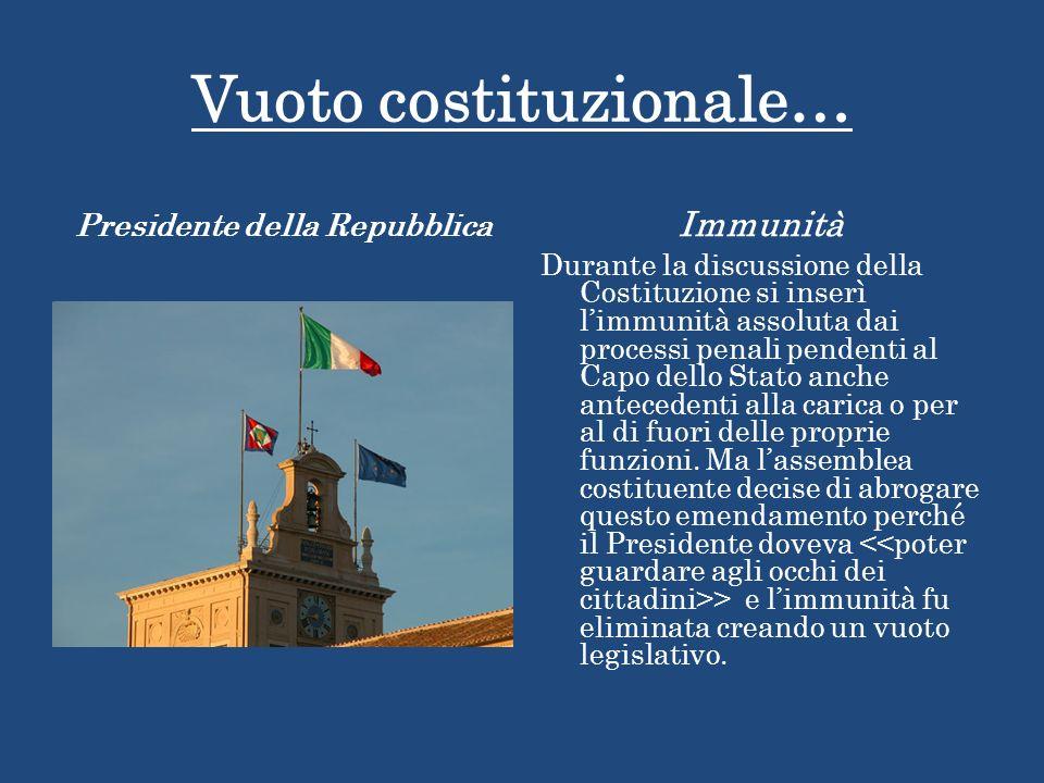 Vuoto costituzionale…