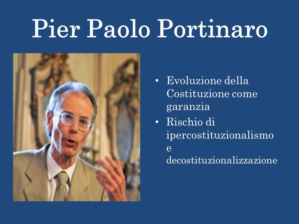 Pier Paolo Portinaro Evoluzione della Costituzione come garanzia