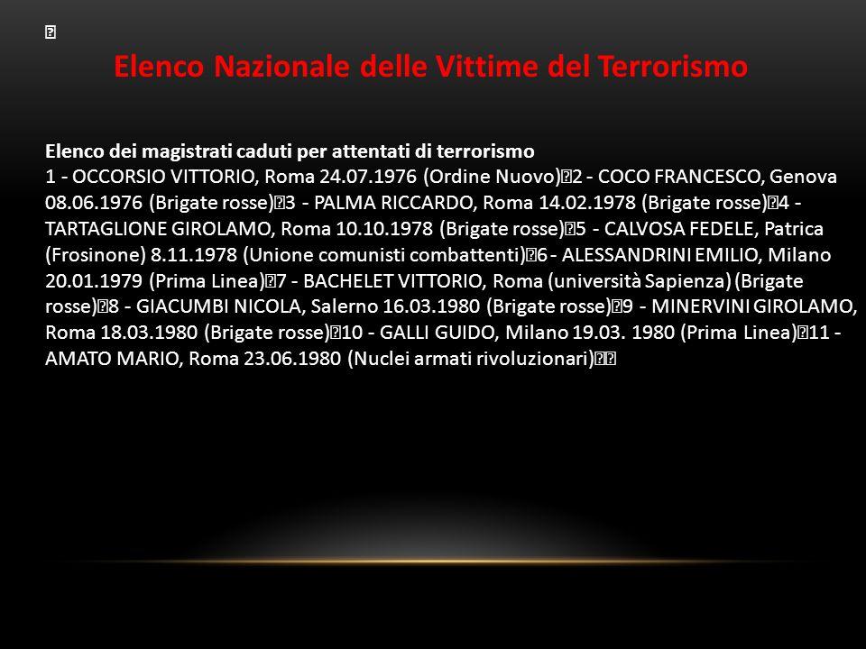 Elenco Nazionale delle Vittime del Terrorismo