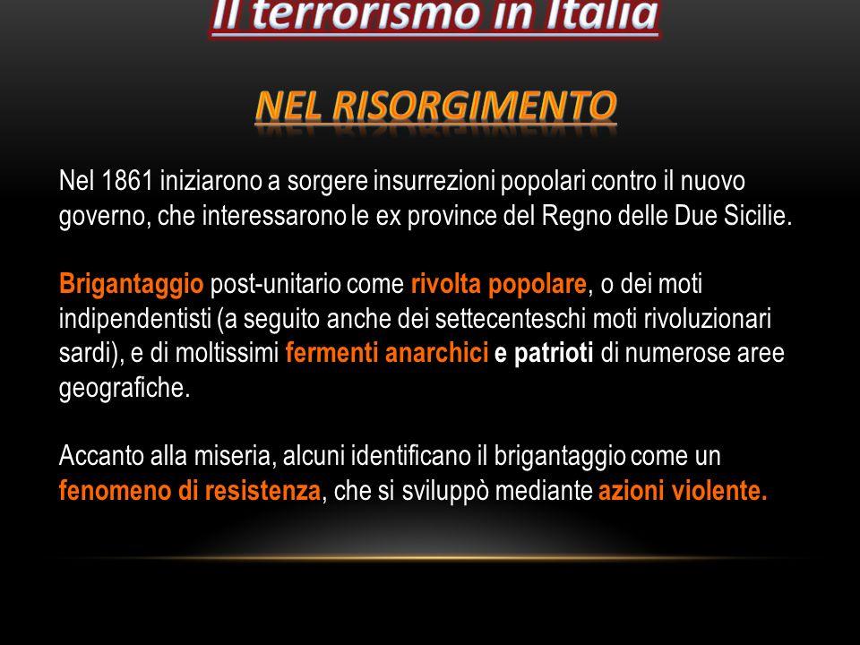 Il terrorismo in Italia