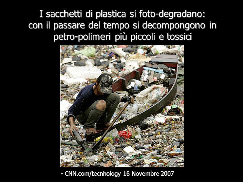 I sacchetti di plastica si foto-degradano: