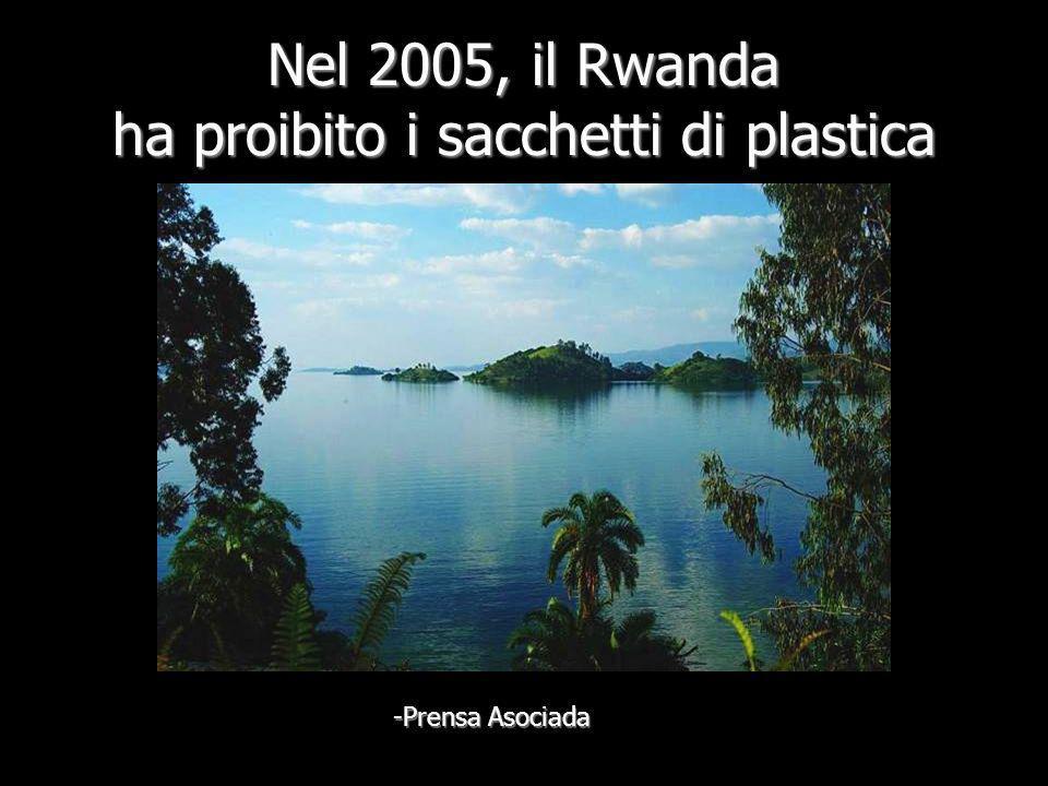 Nel 2005, il Rwanda ha proibito i sacchetti di plastica