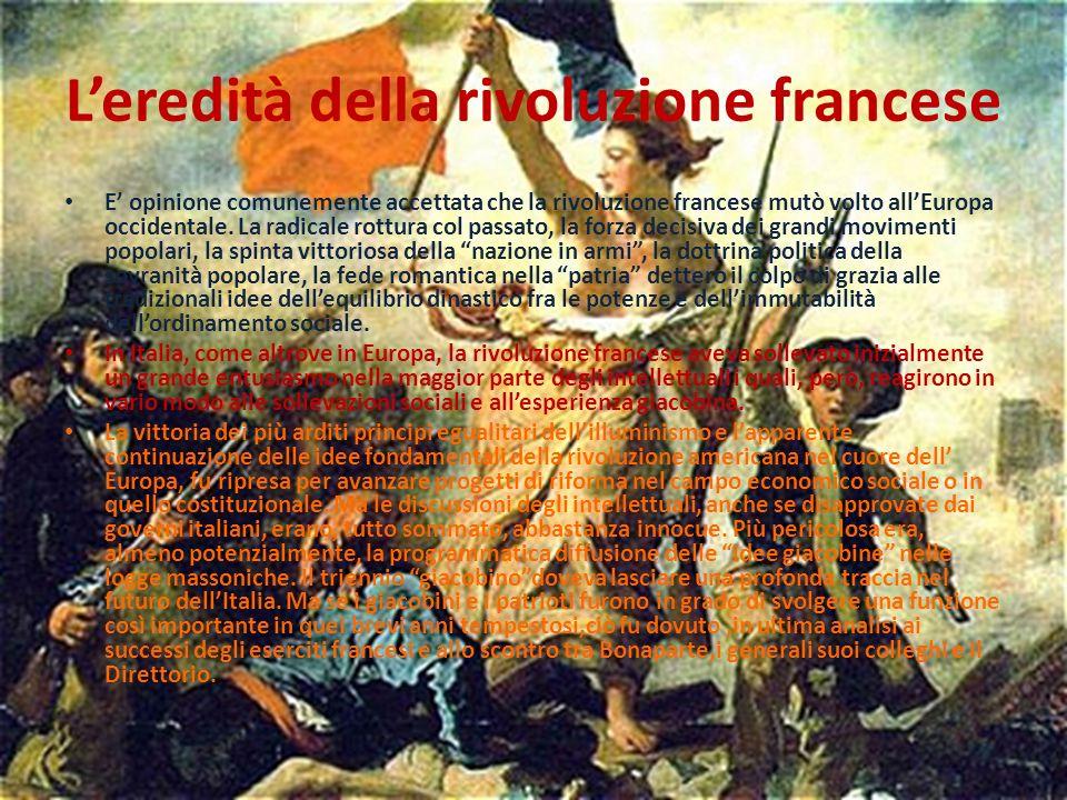 L'eredità della rivoluzione francese
