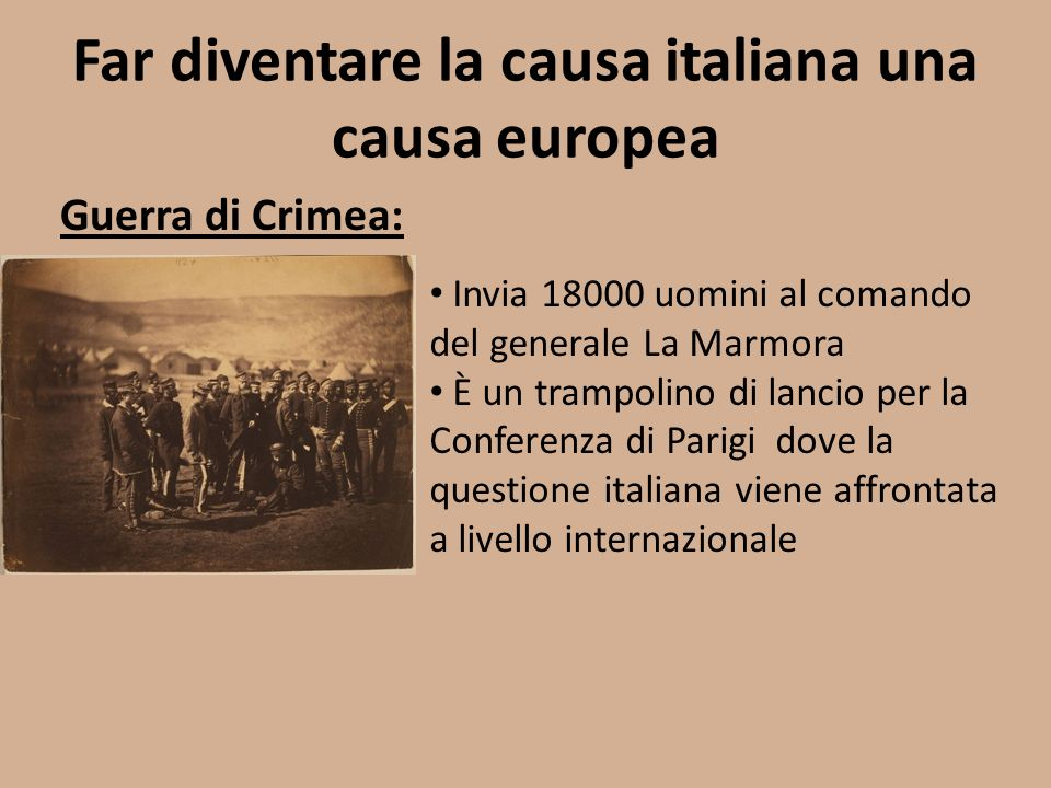 Far diventare la causa italiana una causa europea