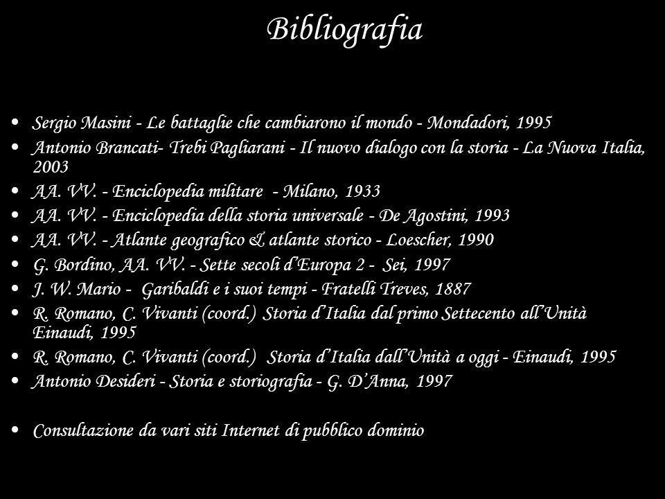 Bibliografia Sergio Masini - Le battaglie che cambiarono il mondo - Mondadori, 1995.